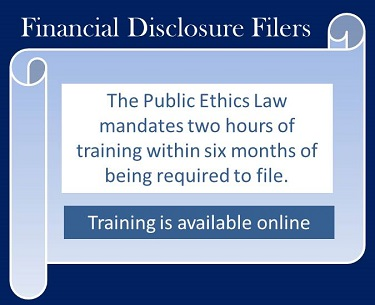 Financial Discloure Filers must take training within 6 months of being required to file.